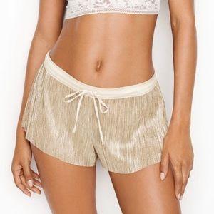 Victoria's Secret Metallic Gold Pajama Shorts